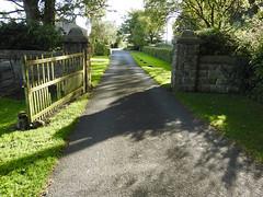 Focus on the journey (Lancashire Lass ...... :) :) :)) Tags: quote stonyhurst ribblevalley lancashire hurstgreen gateway gate lane trees shadow sunshine dappledlight hedgerow wall september