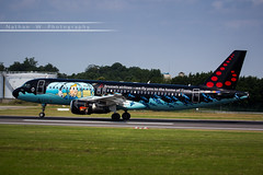 BRU - Airbus A320-214 (OO-SNB) Brussels Airlines (Aro'Passion) Tags: tintin livery named rackham bru ebbr brussels bruxelles 60d canon aropassion airport aircraft airbus airlines aroport atterrissage touch oosnb reverse repousse natw photography photos zaventem