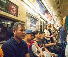 Riding the 3 Train (UrbanphotoZ) Tags: subway passengers 3train crowded westside squeezethelastlemonydropfromtheday cap nike sleeping manhattan newyorkcity newyork nyc ny