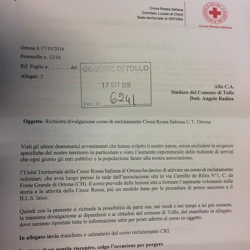 La Croce Rossa Italiana -Ufficio Territoriale di Ortona - ha organizzato un corso di formazione per diventare volontario su tematiche legate al salvavita e al pronto soccorso. Gli interessati possono contattare direttamente la CRI di Ortona al numero 0859