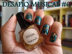 Desafio Musical 6 - Cuida Bem Dela - Penlope Luz, Midas (Mica Cavalcante) Tags: nailpolish nailenamel naillacquer esmalte unhas nails verniz midas penlopeluz pl dourado gold verde elianadote maresia desafio musical
