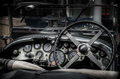 """""""In the Rear View Mirror..."""" (Ian Johnston LRPS) Tags: motormeseum cars windows glass view sky steering dials controls seat driverview mirror bently racing supercharger"""