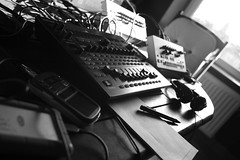 Soundscape (Alexandre Dulaunoy) Tags: workbench soundscape electronicmusic sooc bw blackwhite noiretblanc noirblanc music sound nb workinprogress