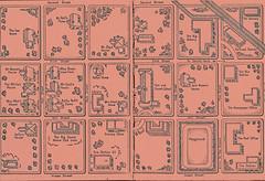 A neighborhood map (katinthecupboard) Tags: vintagechildrensillustrations vintagechildrenssociology socialscience 1937 clarencebiers biersclarence townlife map neighborhoodmap endpapers