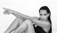 Cecilia Mamede (ceciliamamede) Tags: cecilia mamede model modelo black white studio branko newark nj ironbound rolleiflex sinar hy6 medium format digital lumedyne ring flash brasil brazil