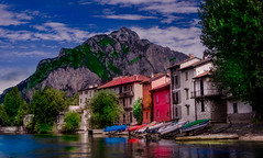 Fiume LAdda, Lecco (Pino Snorr) Tags: fiumeaddalecco ilovepizza love landscape whitecottonsky barca black blue boat city clouds color couple green house italia italien italy lago lombardia mountains outdoor red river sky street sun trees water white wife fiume lecco adda ladda