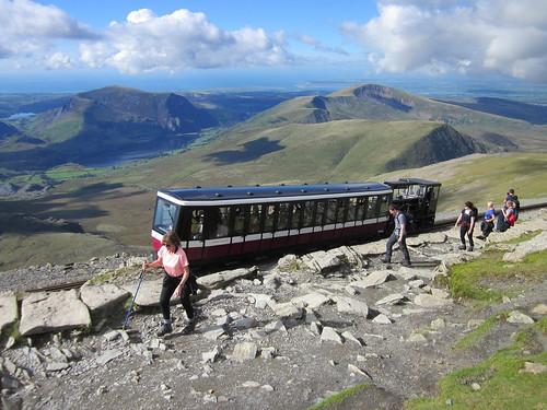 The Snowdon Mountain Railway at Bwlch Glas