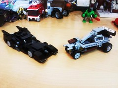 1989 Batmobile vs Apocalypse Dune Bugy (avengingturtle) Tags: legobatmobile legomovie lego legoapocalypse vs
