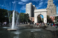 WashingtonSquarePark (hiimlynx) Tags: manhattan newyork fifthavenue fifth sky blue skyline nys nyc september 2016 arch architecture washington washingtonsquarepark square washingtonsquare