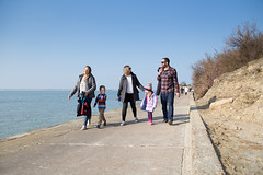 Family walk. Colwell Bay to Totland Bay - IMG_1025 (s0ulsurfing) Tags: s0ulsurfing 2016 march isle wight spring sea coast coastal west walk family