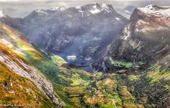 Geiranger - Norway (martin.baskill) Tags: geiranger norway dalsnibba rainbow mist atmosphere snow cruiseship