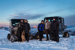 Family portrait (spwasilla) Tags: family winter snow mountain polaris ranger polarisranger dog germanshepherd cold sunset alaska