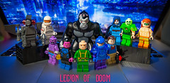 [Lego DC] Timm's Legion (Jonathan Wong Photography) Tags: lego legion of doom justice league unlimited tv show television cartoon network member berries custom dc superheroes comics heatwave firefly polaris parasite sinestro lex luthor gorilla grodd toyman dr destiny atomic skull amazo