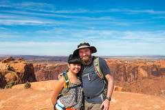 Canyonlands (joshbousel) Tags: josh kristin canyonlands canyonlandsnationalpark friends islandsinthesky islandsintheskydistrict kris northamerica people travel unitedstates unitedstatesofamerica upheavaldomeoverlook upheavaldomeoverlooktrail usa ut utah nationalpark
