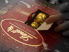 Advent calendar (norm.edwards) Tags: christmas lindt bear golden advent calendar red surprise mornings morning rich chocolate new 25 days