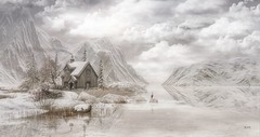 Winter 2017 1 ((Landscapes) Lam, every day is a journey) Tags: painting digital paysage landscape blanc hiver winter neige snow