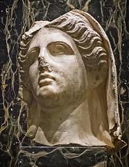Head of a Goddess probably from southern Italy 4th century BCE Marble (mharrsch) Tags: sculpture marble goddess deity myth worship religion greek magnagraecia italy ancient 5thcenturybce nelsonatkins museum kansascity missouri mharrsch