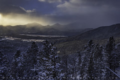 Winter's Promise (Matt Thalman - Valley Man Photography) Tags: colorado manyparkscurve nationalpark rmnp rockymountainnationalpark clouds cloudy cold cool fog foggy forest landscape light mountain sky snow snowscape snowy sunlight trees winter