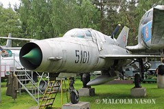 MIG-21UM 5101 SLOVAK AIR FORCE (shanairpic) Tags: preserved museum military jetfighter zruc mig