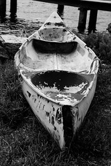 Old kayak - seen better days (Merrillie) Tags: nsw woywoy oldboat monochrome centralcoastnsw blackandwhite old photography kayak outdoors boat nswcentralcoast centralcoast newsouthwales australia