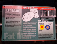 Fat Man Bomb Information (Serendigity) Tags: science usa japan war bomb fatman atomicbomb bradbury nagasaki newmexico unitedstates display museum wwii losalamos