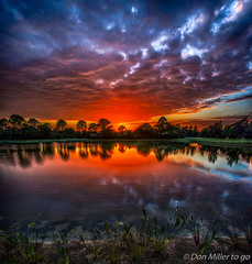 Evening Reflection (DonMiller_ToGo) Tags: cloudporn sunsetmadness sunsets nature reflection goldenhour panorama panoimages2 florida hdr panoramic water millerville lake onawalk sky outdoors sunsetsniper skypainter d810 hdrphotography clouds