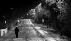 Kirkevegen, Stjrdal (Trond Sollihaug) Tags: kirkevegen stjrdal trndelag norway monochrome winter december people night