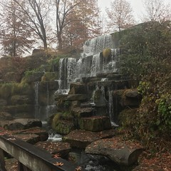Spring Park waterfall (King Kong 911) Tags: spring park water fall ducks swan pond