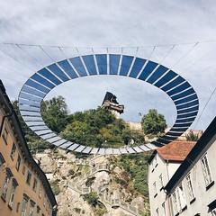 Der Uhrturm. . . . . #uhrturm #schlossberg #graz #sights #uhrturmgraz #canvas #ellipse #shadesofblue #circle #schlossbergplatz #igersgraz (goernsnroses) Tags: ifttt instagram der uhrturm schlossberg graz sights uhrturmgraz canvas ellipse shadesofblue circle schlossbergplatz igersgraz