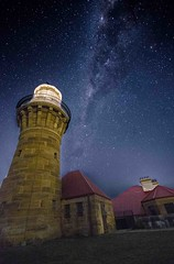 Barrenjoey Lighthouse Milky Way 03 (Mr Clicker / Davin) Tags: summer sky lighthouse beach night way stars bay long exposure mr time sydney australia palm davin milky clicker barrenjoey milkyway