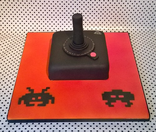 Atari Controller Birthday Cake