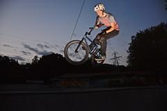 180 Bar Spin (Braden Bygrave) Tags: sport bar night dark cool lowlight nikon bmx awesome flash barspin ridaz nikonphotography d7100 nikonphoto yn460 nikond7100 18140mm