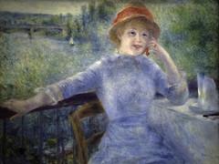 """Portrait of Alphonsine Fournaise"" by Renoir, 1879 (Greatest Paka Photography) Tags: portrait paris france art museum painting impressionist museedorsay renoir pierreaugusterenoir orsaymuseum alphonsinefournaise"