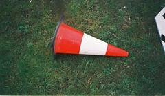 Traffic cone (Matthew Paul Argall) Tags: grass cone aps agfafuturaautofocus2