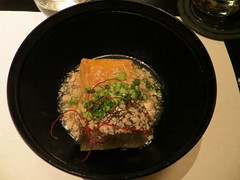 Deep-fried tofu and eggplant (Joel Abroad) Tags: japan restaurant eggplant tofu bowl nagoya aubergine tastingmenu morimono  kinsandashirou