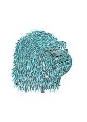 gorille (AntoineWentzler) Tags: aquarelle dessin illustrator gorille
