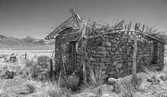Reese River Valley Ranchhouse (joeqc) Tags: ranch bw white black blancoynegro monochrome canon river mono nevada nv valley reese t3i greytones oncewashome