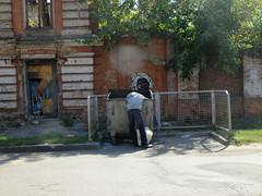 Head in the trash (GrusiaKot) Tags: food man decay ukraine human kharkov searching kharkiv ucraina
