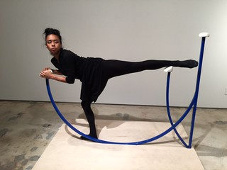 Artist Amanda Keeley's sculpture  with dance performance at the Snitzer gallery opening