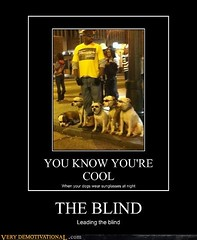 THE BLIND (Chikkenburger) Tags: posters memes demotivational cheezburger workharder memebase verydemotivational notsmarter chikkenburger
