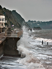 Lumpy seas (pike head) Tags: uk sea england southwest olympus devon lumpy teignmouth southdevon 570uz photoengine oloneo