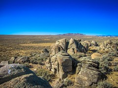 Cool rock formations in the Great Divide Basin.