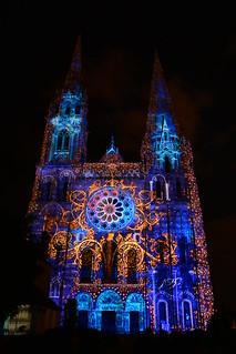 Chartres en Lumières 2015 - Cathédrale, Portail Royal