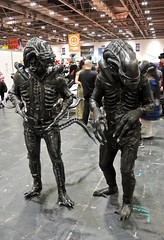 MCM ComicCon 2015 - 38 (Terterian - A million+ views, thanks.) Tags: city uk costumes england black anime london leather monster mystery october comic cosplay centre fear alien capital manga culture aliens lizard fantasy convention gathering gb horror terror docklands characters 24 fans popular comiccon crowds con excel mem fanzine newham 2015 dressing up fancy dress