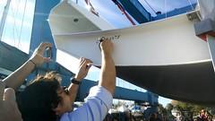 L'amante frettolosa, the Ma Yo 637 name! (h2bob) Tags: wood party boat sailing homemade mayo woodenboat plywood varo woodboat homemadeboat woodensailingboat mayo637