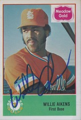 1978 Cramer Sports Promotions / CSP - Willie Aikens #22 (First Base) - Autographed Baseball Card (Salt Lake City Gulls / Pacific Coast League) (WhiteRockPier) Tags: auto sign vintage cards baseball graf graph autograph 1978 cramer signed csp torontobluejays pcl pacificcoastleague williemaysaikens saltlakecitygulls cramersportspromotions willieaikens