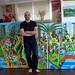 ציורים נאיביים של העיר תל אביב ציורים גדולי מימדים ענקיים ציור ענק צבעטוני לאספנים מקצועיים ישירות מהאמן ללא עמלות תיווך