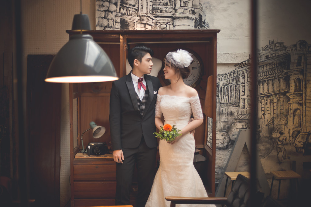 橘子白 阿睿,Vicky婉如,White Bridal Dress - White手工婚紗,美好年代,青田街, 黑森林,擎天岡