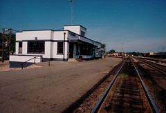 Railroad Depot, Modern Color Photo