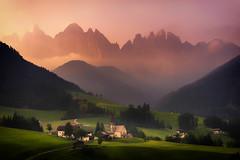 In Peace (albert dros) Tags: travel italy mountains tourism sunrise village churches dolomites valdifunes albertdros odlerange